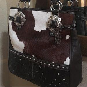 be48cf29391b American West Wild Horse ZIP Top Shoulder Bag